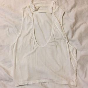 White crop top.